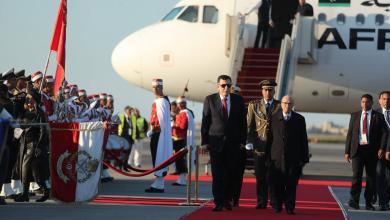 الباجي قايد السبسي وفائز السراج - مطار قرطاج الدولي