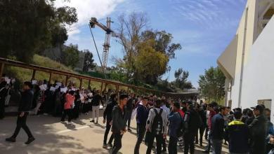 Photo of طلبة بجامعة طرابلس يحتجون مجددا للمُطالبة بالمنحة