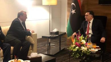 لقاء رئيس المجلس الرئاسي فائز السراج ومبعوث الرئيس الروسي للشرق الأوسط ميخائيل بوغدانوف