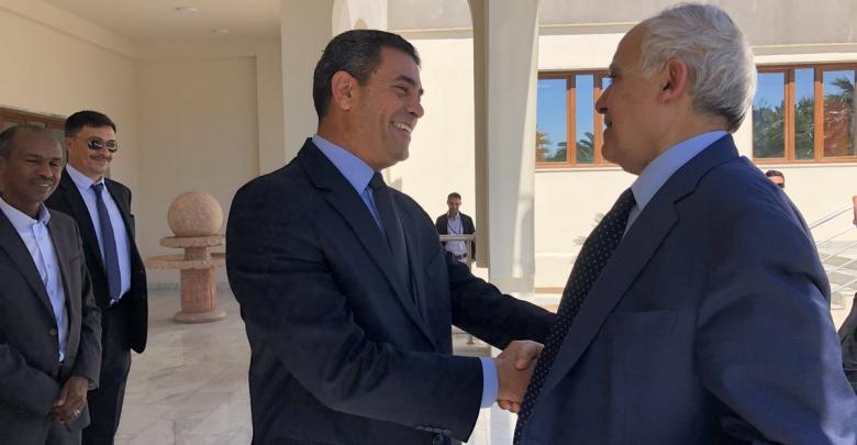لقاء غسان سلامة وعماد السايح