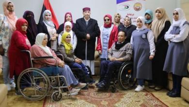 صورة صالح يلتقي أعضاء المنظمة الليبية لحقوق الأشخاص ذوي الإعاقة