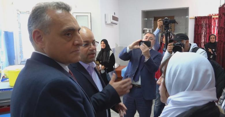 زيارة السفير الايطالي لمستشفى زوارة