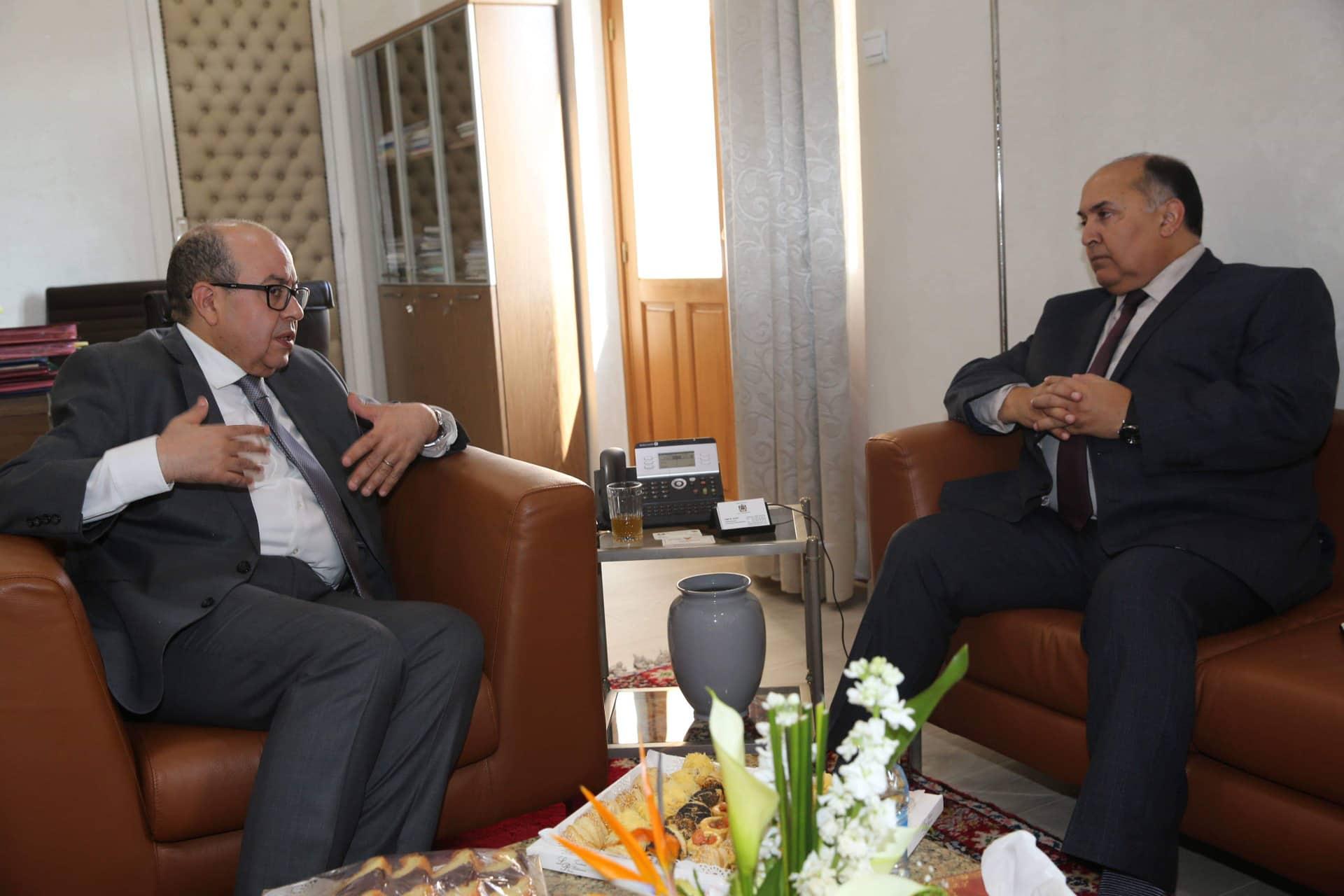 اجتماع رئيس ديوان مجلس النواب عبد الله الفضيل مع الأمين العام لاتحاد المغرب العربي الطيب البكوش