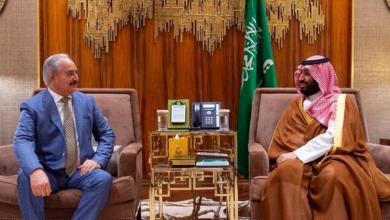 صورة حفتر يبحث مع بن سلمان التطورات الليبية