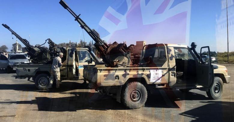 بريطانيا - اشتباكات طرابلس