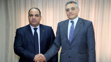 بشير القنطري و السفير الإيطالي لدى ليبيا جوزيبي بوتشينو