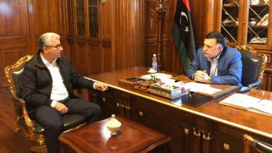 رئيس المجلس الرئاسي فائز السراج، ووزير الداخلية المفوض بحكومة الوفاق فتحي باشاغا