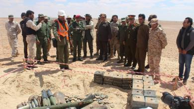 إتلاف كمية كبيرة من مخلفات الحروب من قنابل وصواريخ وإلغام - طبرق