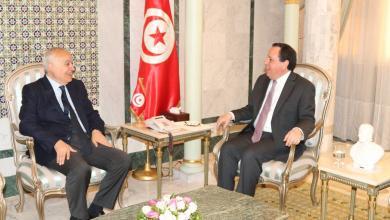 وزير الخارجية التونسي خميس الجيهناوي وغسان سلامة