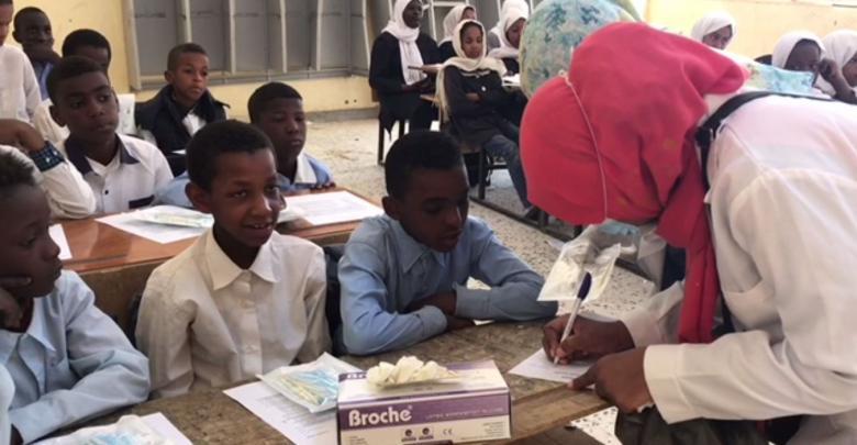 طبيبات الأسنان في غات يكشفن مجاناً على تلامذة المدارس