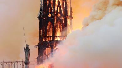 Photo of حريق ضخم يلتهم كاتدرائية نوتردام بباريس (صور)