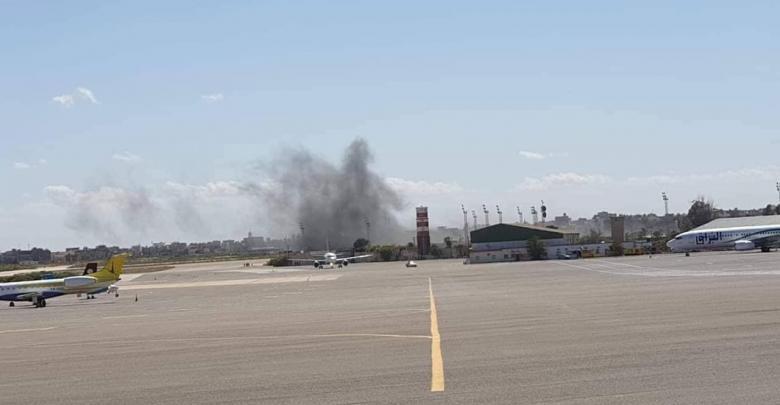 قصف مطار معتيقية - طرابلس