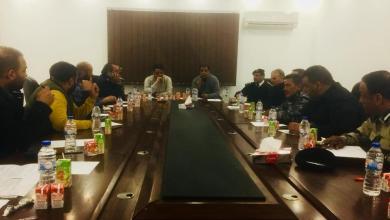 مدير مديرية أمن بنغازي يجتمع بالقيادات الأمنية والشرطية