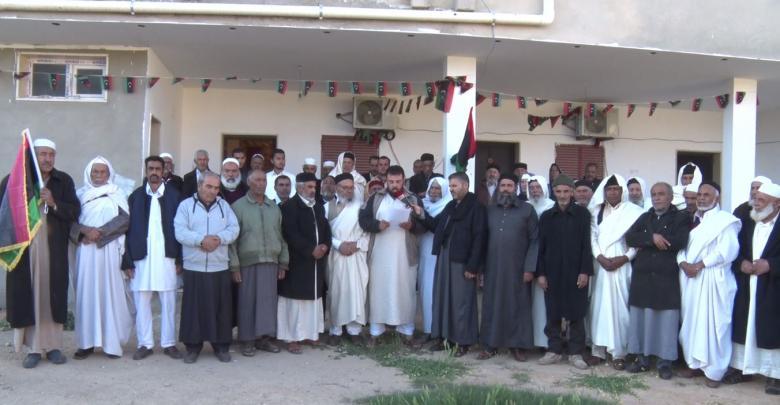 وقفة وبيان لمكونات الزنتان حول عمليات الجيش الوطني في طرابلس