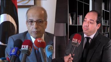 النائب في المجلس الرئاسي أحمد معيتيق ومحافظ مصرف ليبيا المركزي في طرابلس الصديق الكبير