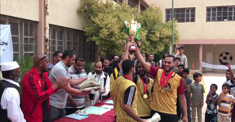 النصر بطلا لدوري المرحوم الناجح أبوهادي في صرمان