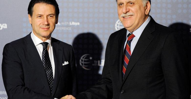 كونتي للسراج: تونس وروسيا مع الحل السياسي في ليبيا