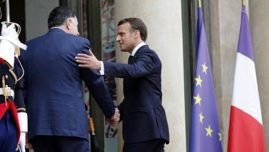 لقاء الرئيس الفرنسي إيمانويل ماكرون مع رئيس المجلس الرئاسي فائز السراج - باريس