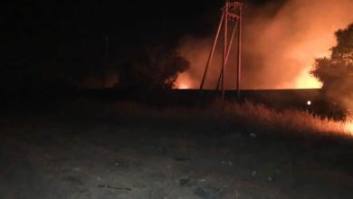 صورة سقوط قذائف عشوائية على منطقة تاجوراء