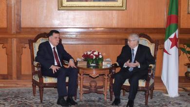 الرئيس الجزائري المؤقت عبد القادر بن صالح ورئيس المجلس الرئاسي فائز السراج