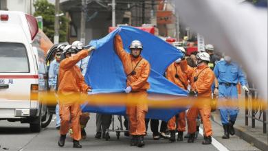 موقع حادث الطعن في كاواساكي