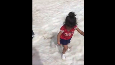 "Photo of حفرة جليدية ""تبتلع"" طفلة في لبنان. شاهد لتعرف"