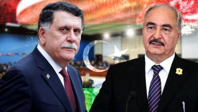 القائد العام للجيش الوطني المشير خليفة حفتر ورئيس المجلس الرئاسي فائز السراج - بروكسيل