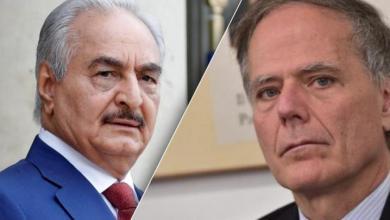 وزير الخارجية الإيطالي إينزو موافيرو ميلانيزي،والمشير خليفة حفتر