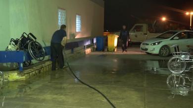 حملة نظافة بمستشفى ترهونة العام