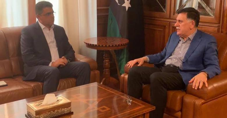 اجتماع رئيس المجلس الرئاسي فائز السراج ورئيس ديوان المحاسبة خالد شكشك