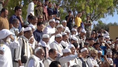 Photo of أعيان ترهونة يخرجون في مسيرة مُؤيدة للجيش