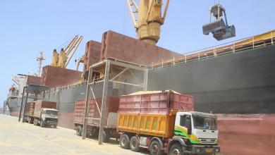 صورة حركة السفن في ميناء بنغازي البحري