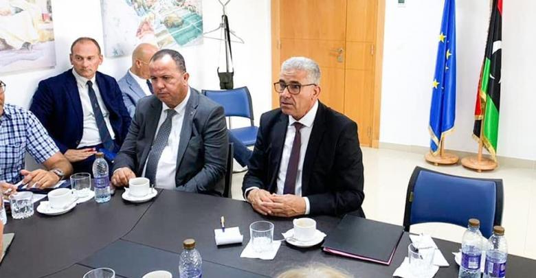 اجتماع وزير الداخلية المفوض بحكومة الوفاق فتحي باشاغا مع عدد من السفراء المعتمدين لدى ليبيا - مقر الاتحاد الأوروبي تونس