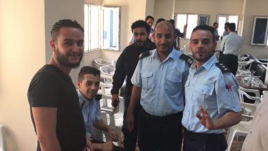 جانب من حفل معايدة مديرية الأمن في مدينة صرمان