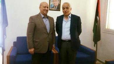 المبعوث الأممي لليبيا غسان سلامة يلتقي مع رئيس حزب العدالة والبناء الليبي
