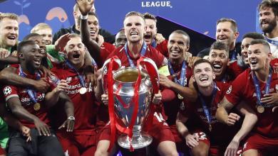 تتويج فريق ليفربول بلقب دوري أبطال أوروبا