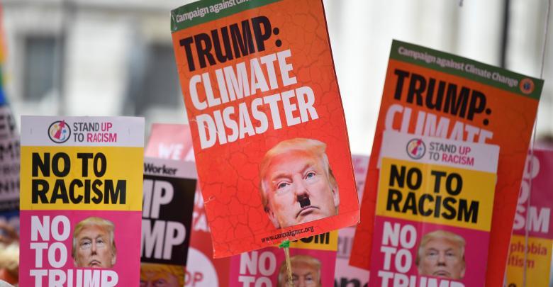 الاحتجاجات على زيارة ترامب - لندن