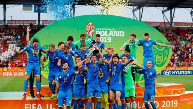 صورة شباب أوكرانيا أبطالا للعالم لأول مرة بتاريخهم