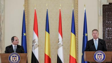 الرئيس المصري عبد الفتاح السيسي والرئيس كلاوس يوهانيس - جمهورية رومانيا