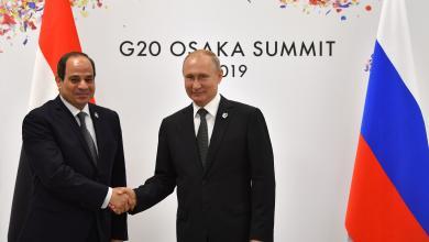 الرئيس الروسي فلاديمير بوتين والرئيس المصري عبدالفتاح السيسي - قمة العشرين