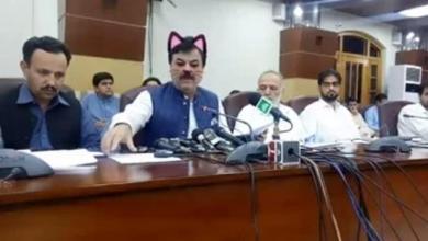صورة خطأ غير مقصود يحرج وزيرا باكستانيا