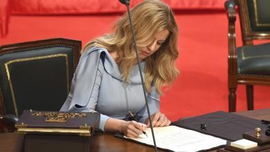 Photo of الناشطة كابوتوفا تؤدي اليمين كأول رئيسة لسلوفاكيا