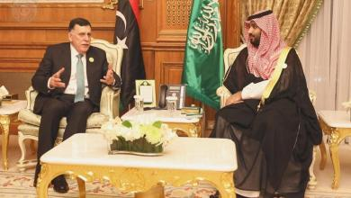 "Photo of ""بن سلمان"" للسراج: لا يوجد حل ""عسكري"" للأزمة الليبية"