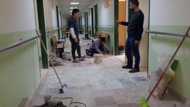 Photo of استعدادات لافتتاح العيادات الخارجية بمستشفى الوحدة في درنة