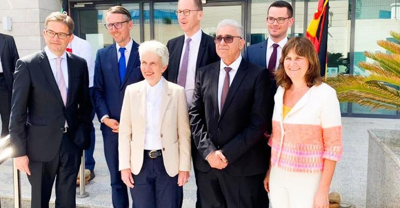 لقاء وزير الداخلية المفوض بحكومة الوفاق فتحي باشاغا مع الوفد الألماني - تونس