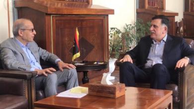 لقاء رئيس المجلس الرئاسي فائز السراج مع محافظ مصرف ليبيا المركزي الصديق الكبير - طرابلس