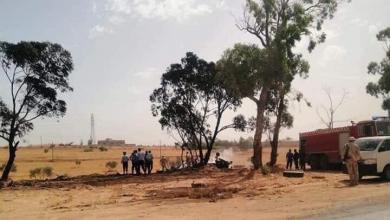 صورة سقوط طائرة حربية تابعة للوفاق في مصراتة
