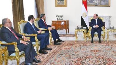 اجتماع الرئيس المصري عبد الفتاح السيسي ووزير الخارجية الإماراتي الشيخ عبد الله بن زايد - القاهرة
