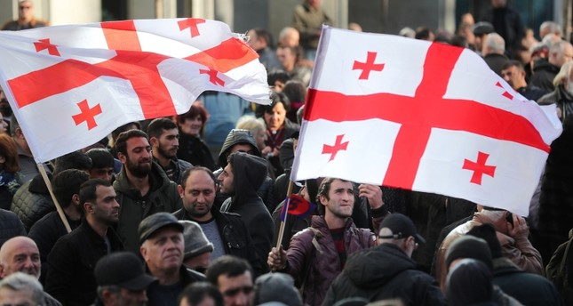 نتيجة بحث الصور عن احتجاجات جورجيا