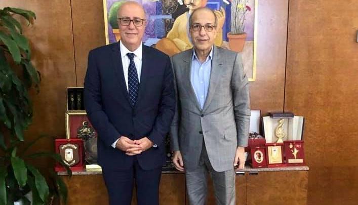 لقاء محافظ مصرف ليبيا المركزي الصديق الكبير مع نظيره التونسي مروان العباسي
